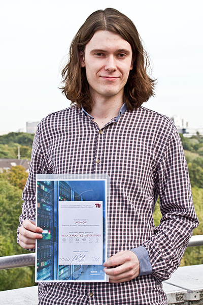 Jan Dikow with his Data Analytics Master's Track Certificate